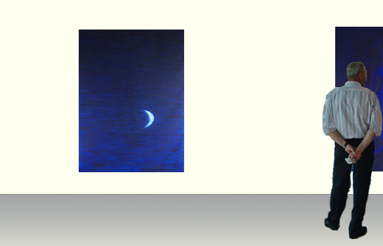 Floating moon _ Yvonne Rooding